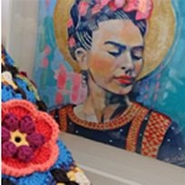 Detail Frida's Flowers deken